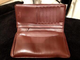 シャネルマトラッセ財布内側リペアアフター